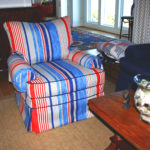 Slipcovers Vs. Upholstery Blog Blue and Red Chair