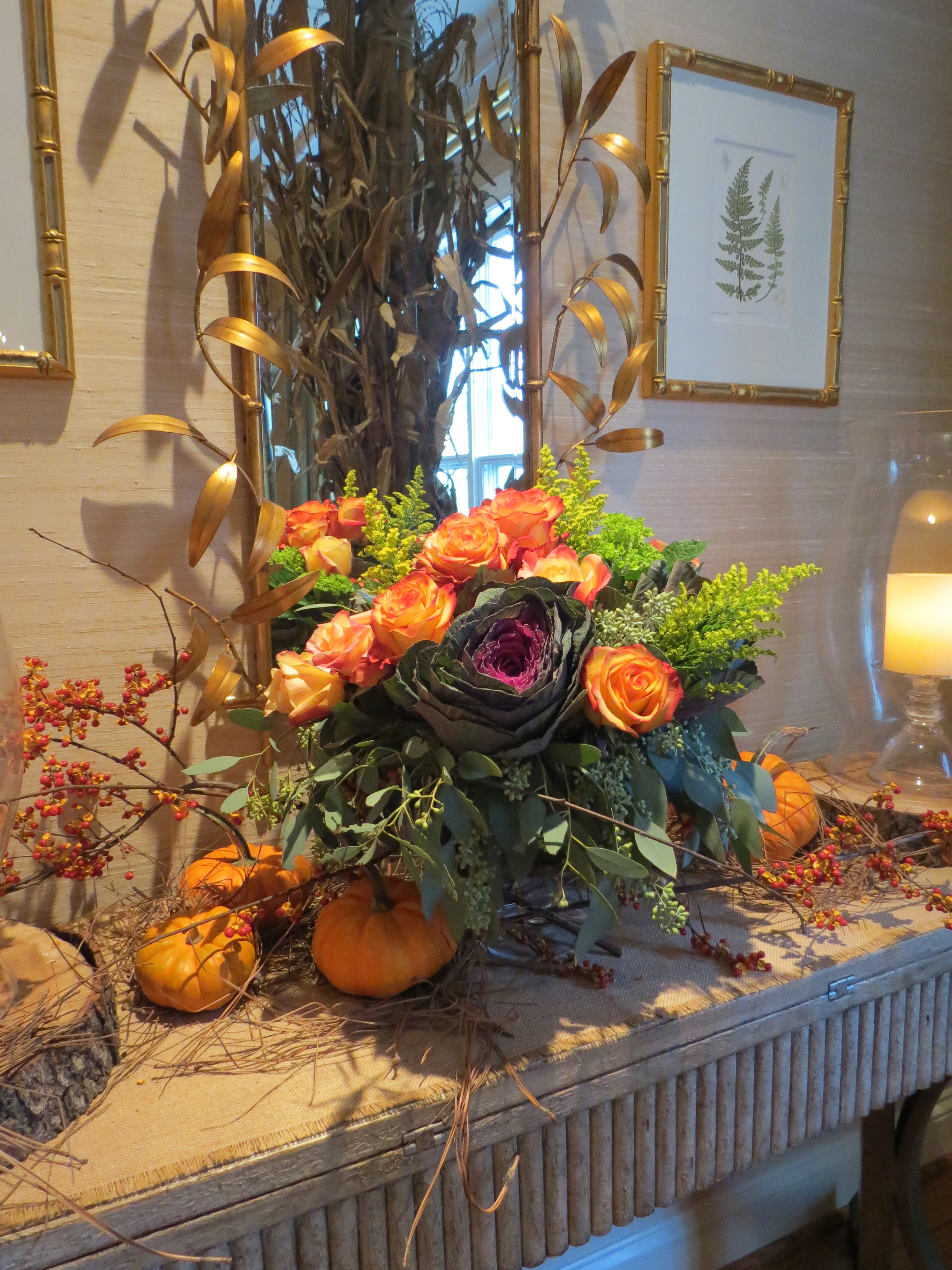 Holiday Tablescape Blog Flowers