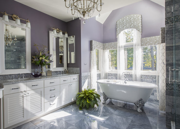 Symphony Purple Bathroom
