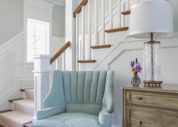 Nantucket Light Blue Chair and Stairway
