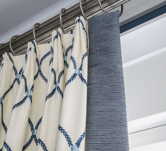 Nantucket Blue Curtain