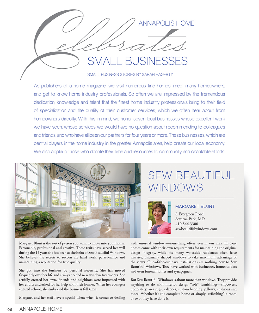 Annapolis Home Magazine Business Section