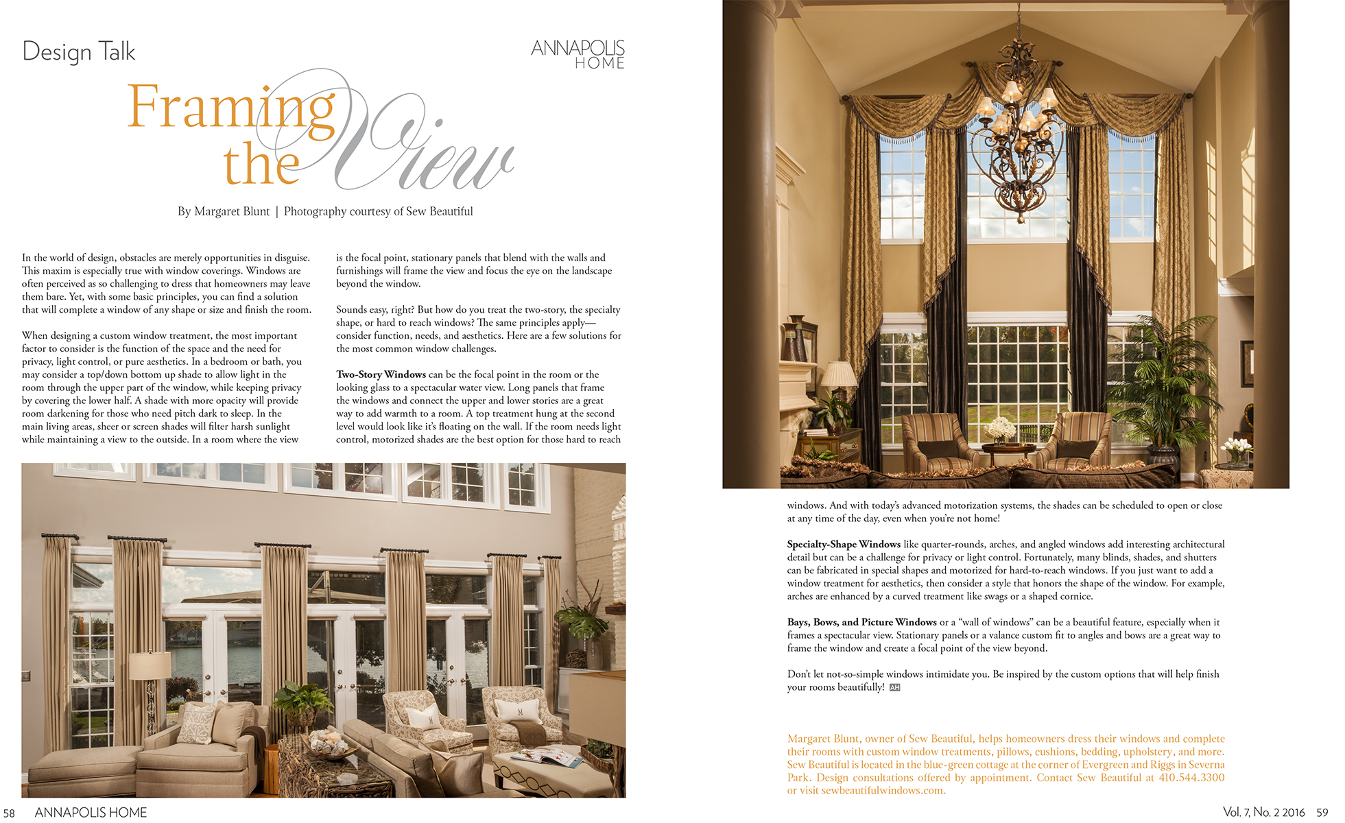 Annapolis Home Magazine Framing The View