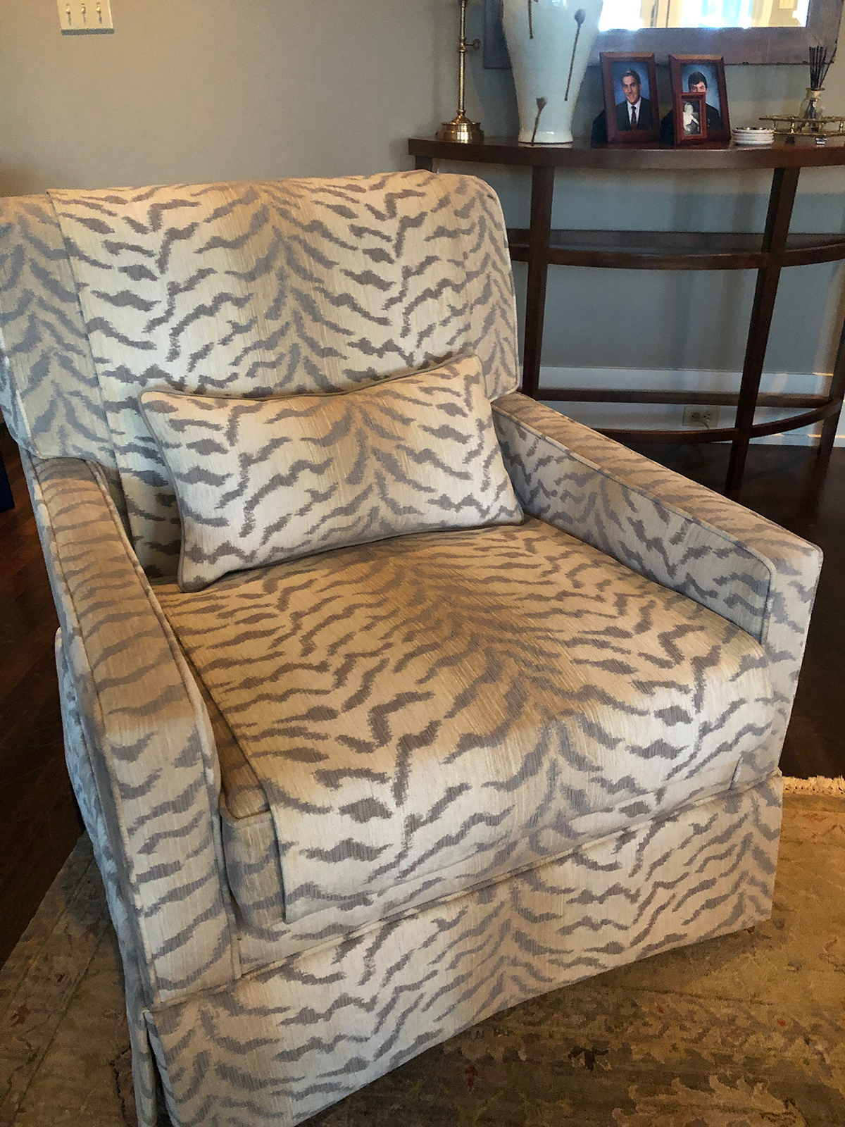 Holiday Preparations Animal Print Upholstered Chair