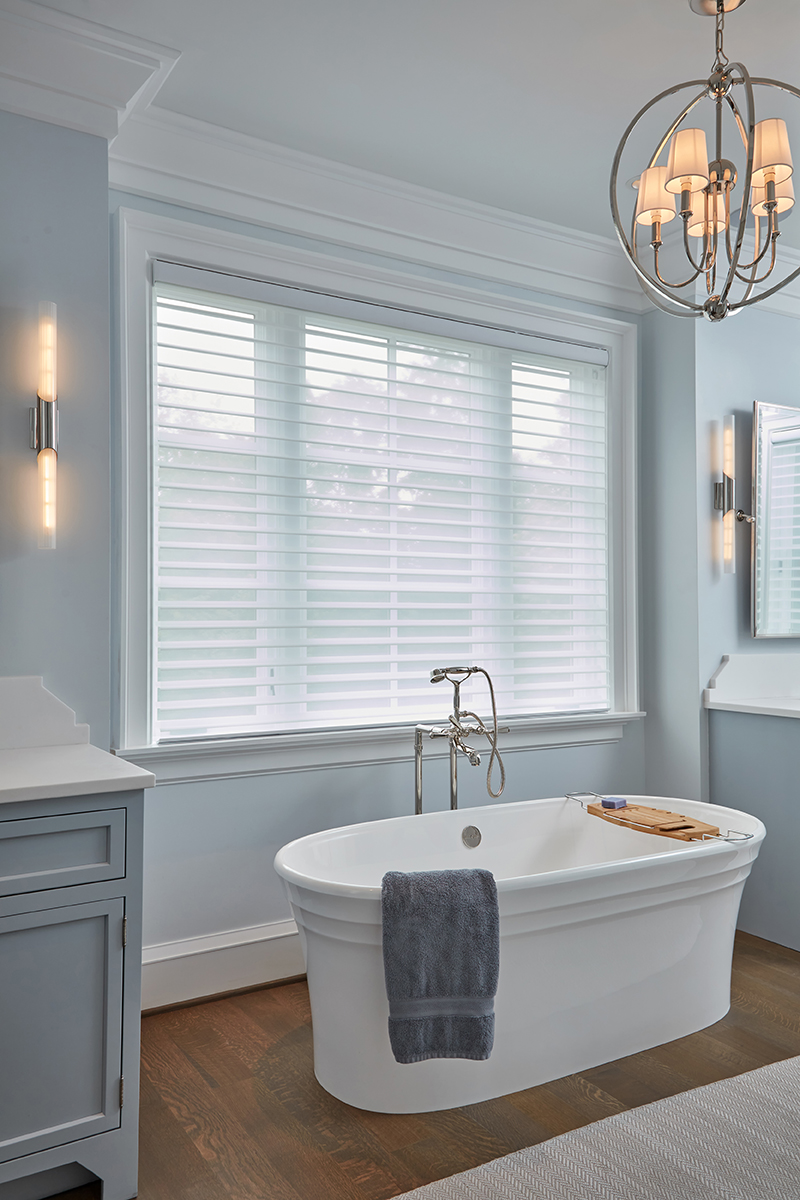 Ledger Hill Bath Blinds Down