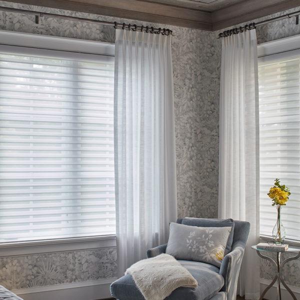 Ledger Hill Master Bedroom Blinds Pulled